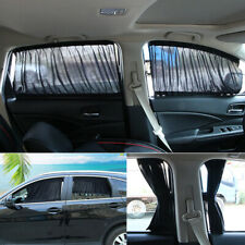 2PCS Car UV Protector Sun Shade Curtains Window Visor Mesh Cover Shield Slideway