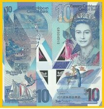 East Caribbean States 10 Dollars p-new 2019 Polymer Banknote UNC