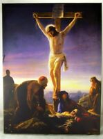 """The Crucifixion of Jesus Christ 15 1/2"""" Wall Art Canvas for Home or Sanctuary"""