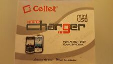 Cellet Mini USB Travel Home Wall Charger NEW