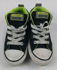 CONVERSE CTAS STREET MID BLK WHT CANVAS YOUTH SHOES SZ 1 USA