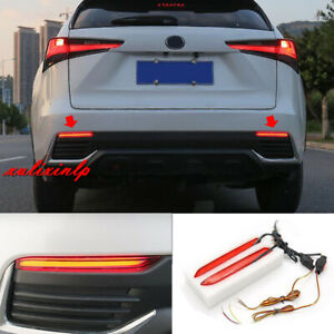 For 2015-2020 Lexus NX200T 300 300h LED Rear Bumper Fog Lights/ Brake Lights 2PC