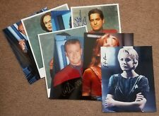 Star Trek: Voyager (8) convention signed 8x10 photos Guaranteed