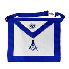 Masonic Blue Lodge Master Mason Fabric Apron with Compass & Square Decoration