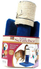 Lazy Pet Action Scratcher Spring Loaded Post Drives Cats Wild Saves Furniture