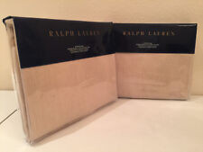 2 Ralph Lauren Mulholland Drive Bronson European Euro Pillow Shams Pair Linen