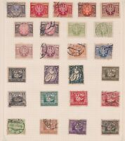 (PLT-6) 1923 Poland mix of 25stamps value to 2000M (F)
