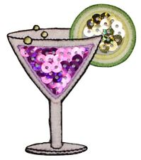 Cocktail Applique Patch - Martini, Lime, Alcoholic Beverage 2-5/8