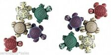 Polymer Clay Turtle Magnets Lot of 5 Assorted Colors 24x22mm (1 inch) So Cute!