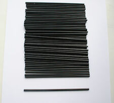 150 Black Mini Cocktail Straws Plastic Celebration Drinks Party Slim Sip Food