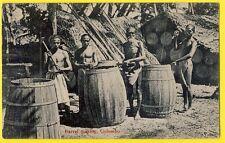 cpa Métier SRI LANKA CEYLAN Barrel Making COLOMBO Fabricant de Tonneaux Barils