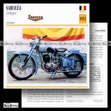 #060.18 SAROLEA 200 REGINA 1953 Fiche Moto Classic Motorcycle Card
