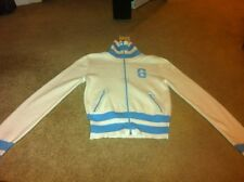White and Light Blue Guess Sweater