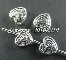 300pcs Tibetan Silver Heart Shaped Spacer Beads 6x6x3mm 10742