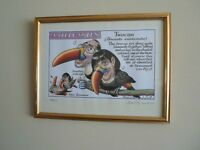 Peter Brookes - 'Twocan' - Limited Edition - Framed - Signed Litho Print