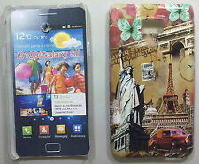 COVER CUSTODIA SAMSUNG GALAXY S II I9100 CARTOLINA PARIGI - NEW YORK