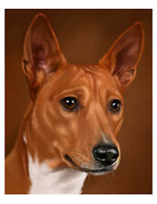 artav Basenji 01 Art Print on Watercolor Paper