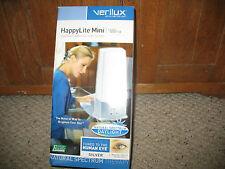 NIB Verilux HappyLite Mini Ultra Sunshine Supplement Light System, Silver.