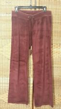 Juicy Couture Maroon Velour Track Lounge Comfy Pants M