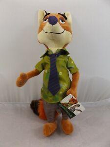 """Nick Wilder Zootopia Zootropolis Plush Soft Toy Stuffed Fox Teddy 13"""" New"""