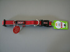 """KONG  Premium Padded Dog Collar - Reflective Piping -  Red - Med 14""""- 20"""" - NEW"""