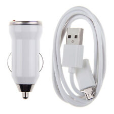CABLE MICRO USB + CHARGEUR VOITURE POUR SAMSUNG GALAXY S4 S3 S2 ACE LG HTC NOKIA