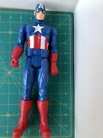 "Captain America Marvel Hasbro 2013 Titan Hero 12"" Posable Figure Pre-owned"