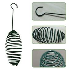 Auto Bird Spiral Feeding Tool with Carrying Hook Metal Hanging Fat Ball Holder