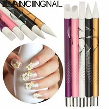5Pcs Manicure Chic Silicone UV Gel Polish Pen Mixing Brushes Nail Art Supplies