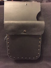 Harley Motorcycle Heat Shield Add a Bag / Pouch to Shield, PLAIN Leather