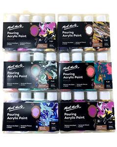 Pouring Paint Kit Mont Marte Premium Acrylic Paint Set  4x60ml Arts Supply