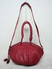 MELANIE DIZON - Red -Soft Sheep Skin Leather Satchel Shoulder Bag Handbag Purse