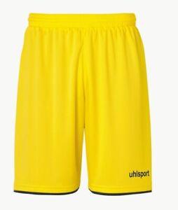 Uhlsport Fußball Club Shorts Kinder kurze Hose ohne Innenslip gelb schwarz