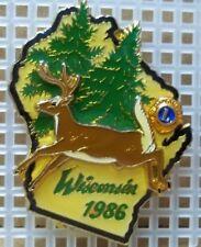 1986 Wisconsin Lions Club Pin