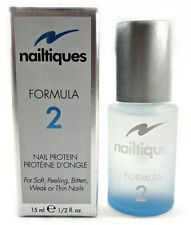 Nailtiques Formula 2 Nail Protein 1/2oz - for Soft, Peeling,Bitten,Weak Nails
