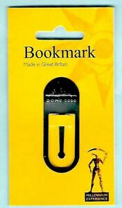 Silver Metal Bookmark Millennium Experience Dome 2000 London Greenwich Gift Him