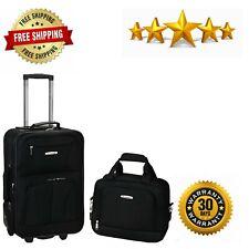 Rockland Fashion Softside Upright Luggage Set, Black, 2-Piece (14/19)