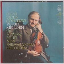 ELGAR: Violin Concerto, Yehudi Menuhin, Boult ANGEL Stereo 36330 Violin LP NM-