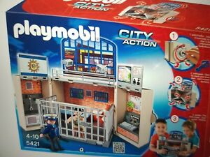 Playmobil - 5421 - Polizeistation - aufklappbar - Spiel-Box - NP € 59,99