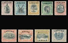 Labuan 1897 complete set of nine mint cat £160 ($208). SG 89-97a.