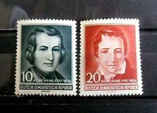 Germany - DDR Sc. 284-285 Heinrich Heine 1956 - MNH