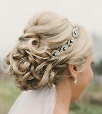 Silver Crystal Diamond Diamante Bridal Bride Hair Band 1920's Great Gatsby Boho
