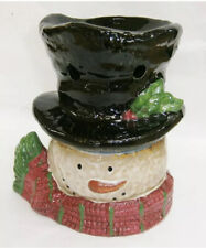 Yankee Candle Snowman Head Tart Warmer Burner New In Box