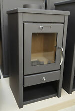 Wood Burning Stove 7-11 kW Solid Fuel Fireplace Log Burner Wood/Coal Small Size