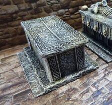 Ziterdes 25mm Terrain Unpainted Sarcophagus with Long Sword Dwarven Forge