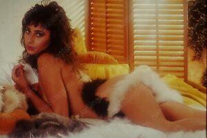 1980 amateur portrait of pretty woman in lingerie 35mm slide transparency Vh19
