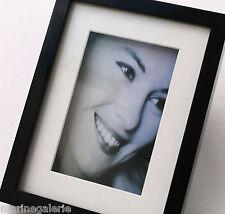 Cadre photo noir vitrine sous verre 3D 10x15 caisse à poser relief Neuf classe !