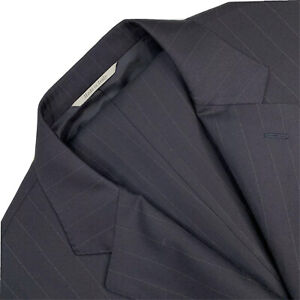 Mint ! 42 R Canali 1934 Navy Blue Pin Stripe Slim Fit Wool Suit Made Italy