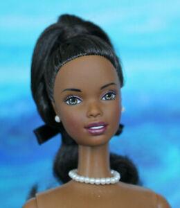 Nude TnT Barbie Black Ponytail Twist Hair AA Pearl Jewelry Mackie NEW for OOAK