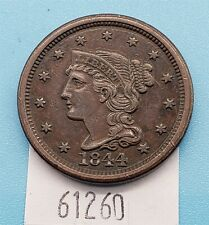 WPC ~ 1844 Braided Hair Large Cent XF/AU